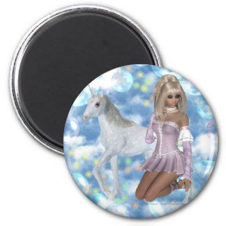 A Magical Love 6 Cm Round Magnet