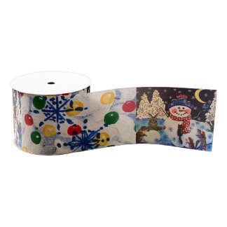 A Magical Night in the Snow Grosgrain Ribbon