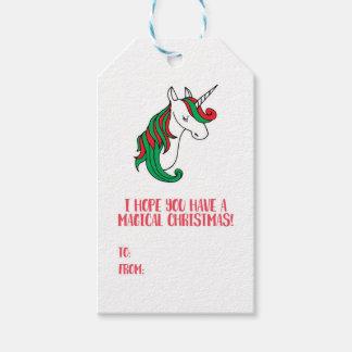 A Magical Unicorn Christmas Gift Tags