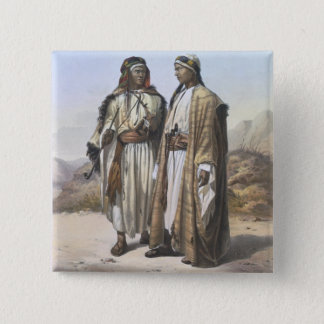 A Mahazi and a Soualeh Bedouin, illustration from 15 Cm Square Badge