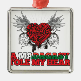 A Malagasy Stole my Heart Ornament