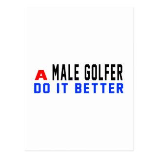 A male golfer Do It Better Postcard