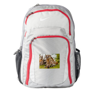 a male lemur hugs his female on Nike  Backpack, Backpack