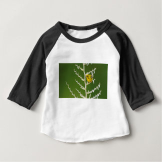 A Male Pine Warbler Perched on an Icy Branch Baby T-Shirt