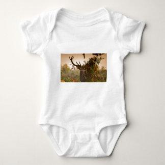A Male Red Deer Blends in London's Richmond Park. Baby Bodysuit