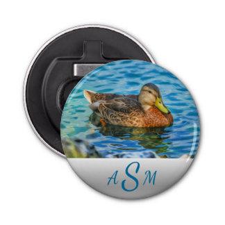 A Mallard Male Duck in the Water Bottle Opener