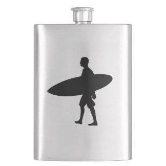 A man and his Board Hip Flask