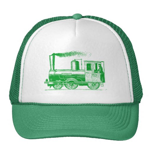 A Man and His Train - Grass Green Hats