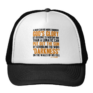 A Man Can No More Diminish God's Glory Mesh Hats