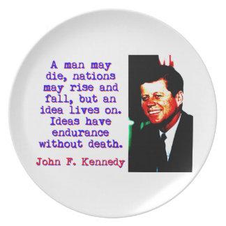 A Man May Die - John Kennedy Plate