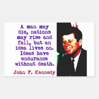 A Man May Die - John Kennedy Rectangular Sticker