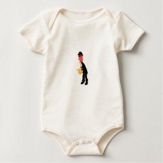 A man playing saxophone baby bodysuit