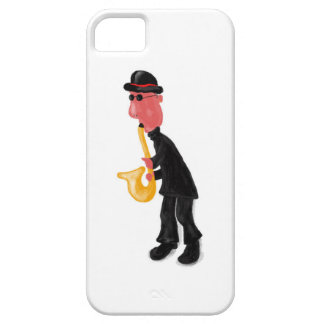 A man playing saxophone barely there iPhone 5 case