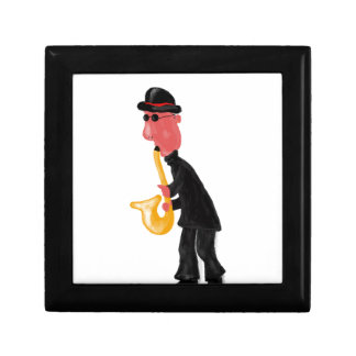 A man playing saxophone gift box