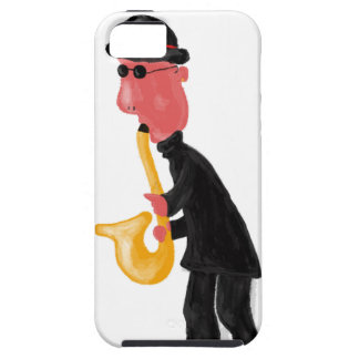 A man playing saxophone iPhone 5 cover