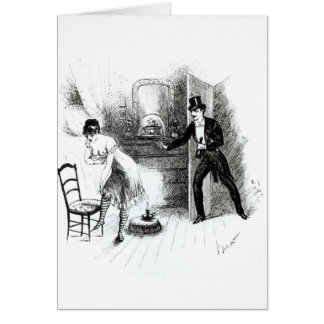 A man visiting a prostitute card