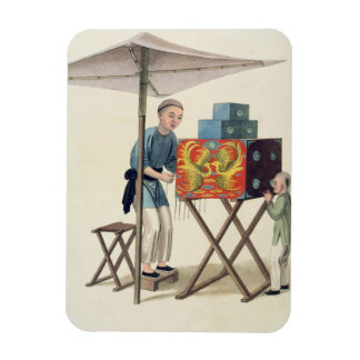 A Man with a Raree-Show, plate 10 from 'The Costum Rectangle Magnets