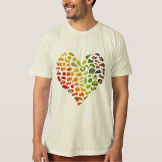 A Man's Organic Vegan Heart by Mini Brothers T-Shirt