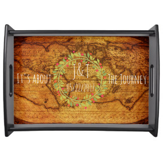 A Map Monogram Wedding Gift Its About the Journey Serving Tray