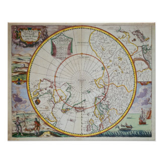 A Map of the North Pole Poster