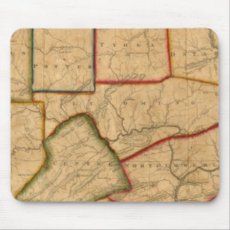 A Map Of The State Of Pennsylvania Mouse Pad