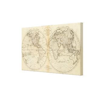 A Map of the World Canvas Print