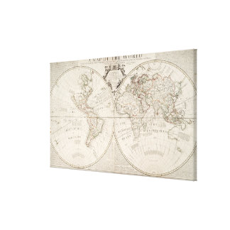 A Map of the World Gallery Wrapped Canvas