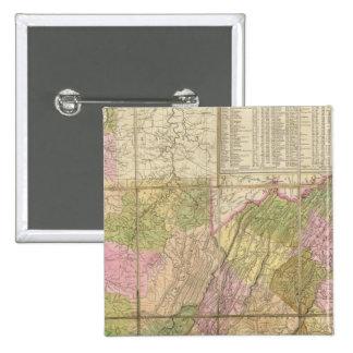 A Map of Virginia 15 Cm Square Badge