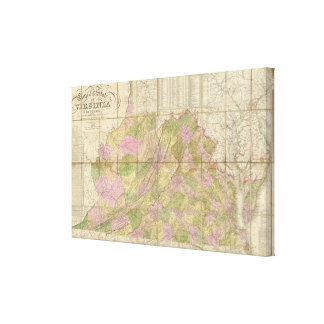 A Map of Virginia Stretched Canvas Prints