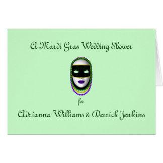 A Mardi Gras Wedding Shower Card