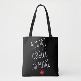 A Mari Usque Ad Mare Grocery Bag, Canadian Tote Bag
