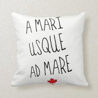 A Mari Usque Ad Mare Throw Pillow, Canadian Motto Cushion