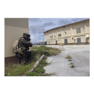 A Marine posts security Art Photo