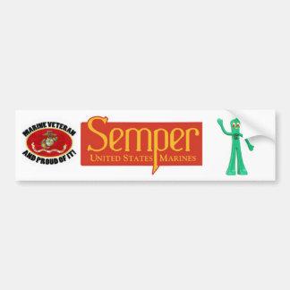 A Marine Thing. Semper Gumby - Always Flexible Bumper Sticker