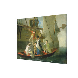 A Married Sailor's Adieu, c.1800 (oil on panel) Gallery Wrapped Canvas