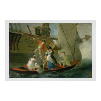A Married Sailor's Adieu, c.1800 (oil on panel) Posters