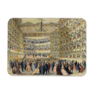 A Masked Ball at the Fenice Theatre, Venice, 19th Rectangular Photo Magnet