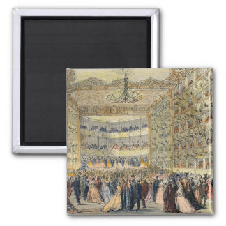 A Masked Ball at the Fenice Theatre, Venice, 19th Square Magnet