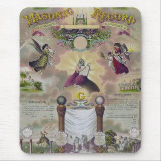 A Masonic Record Mouse Pad