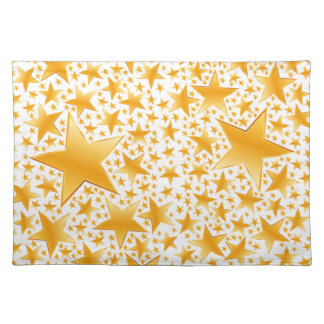 A Massive Amount of Gold Stars Placemat
