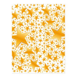 A Massive Amount of Gold Stars Postcard