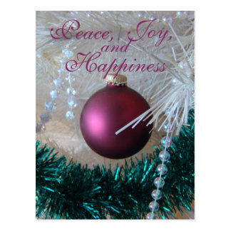 a Mauve Christmas Ornament customize it Postcard