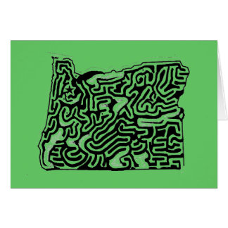 A-Mazing Fifty States Mazes Products Greeting Card