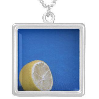 A Mediterranean Lemon Square Pendant Necklace