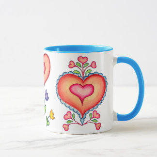 A MEDLEY OF HEARTS by SHARON SHARPE Mug