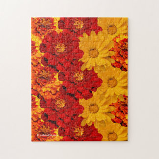 A Medley of Red Yellow and Orange Marigolds Puzzles