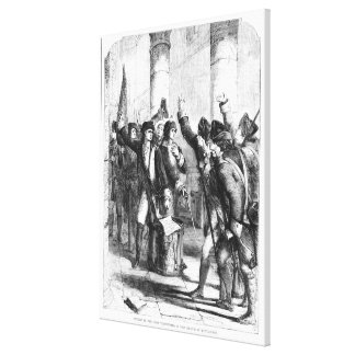 A Meeting of the Irish Volunteers Canvas Print