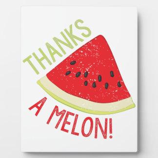A Melon Plaque