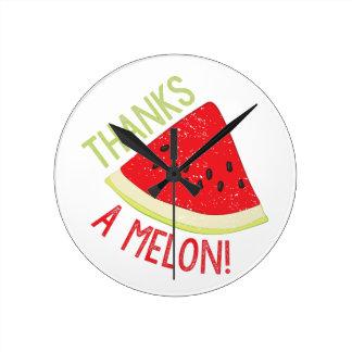 A Melon Round Clock