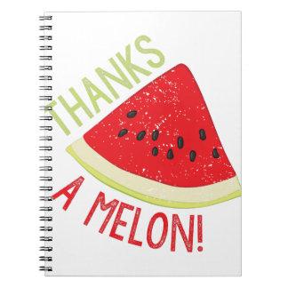 A Melon Spiral Notebook
